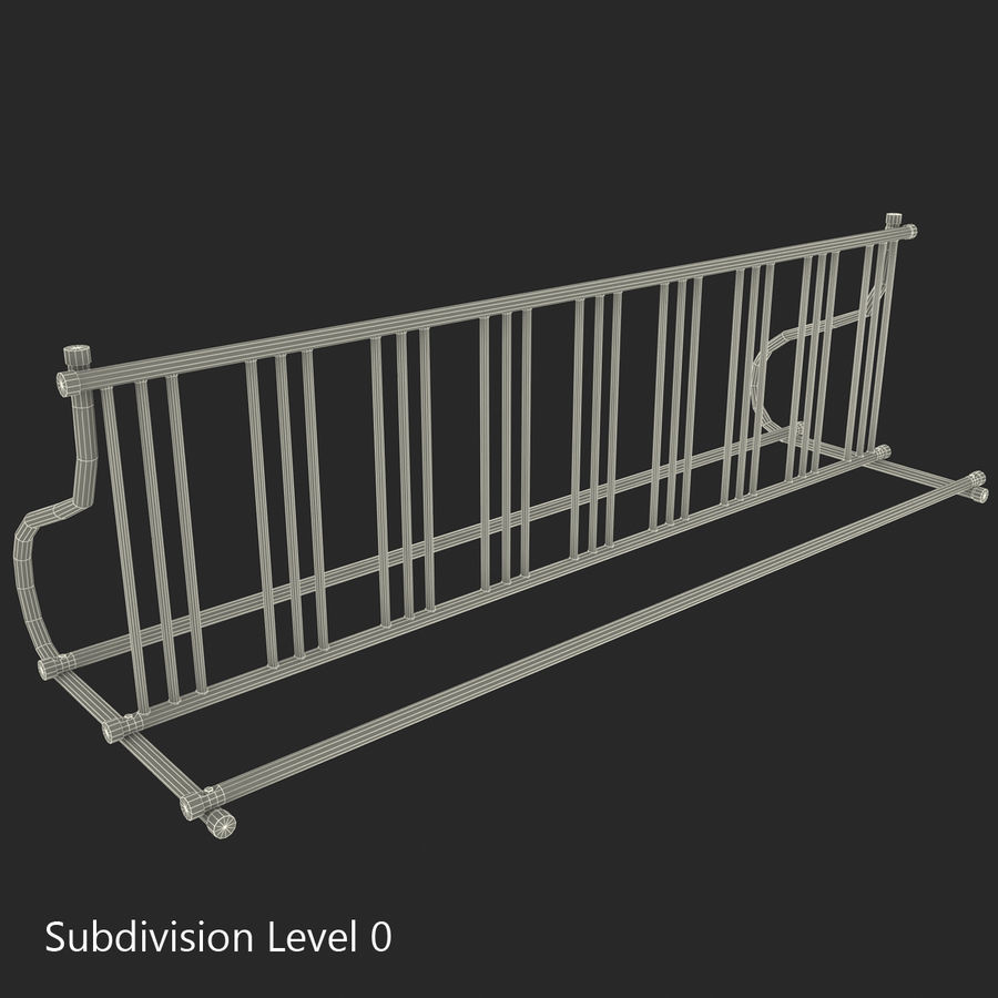 Fietsenstalling royalty-free 3d model - Preview no. 2