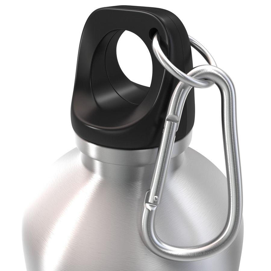 Reusable Aluminium Water Bottle royalty-free 3d model - Preview no. 12
