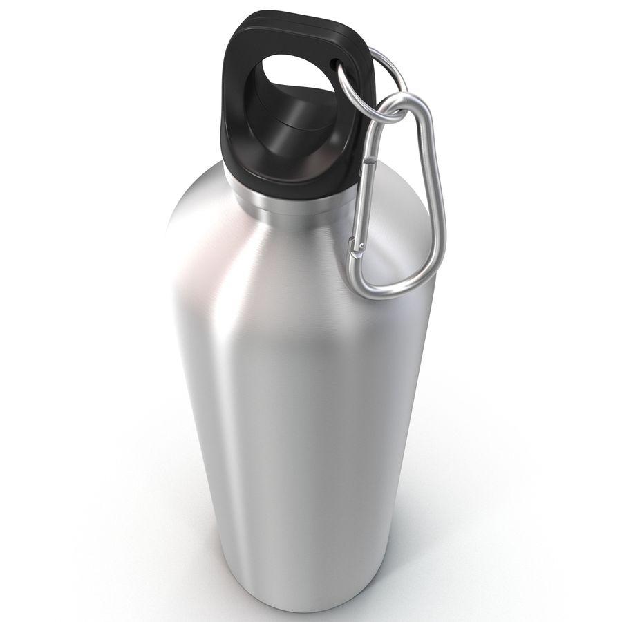 Reusable Aluminium Water Bottle royalty-free 3d model - Preview no. 8
