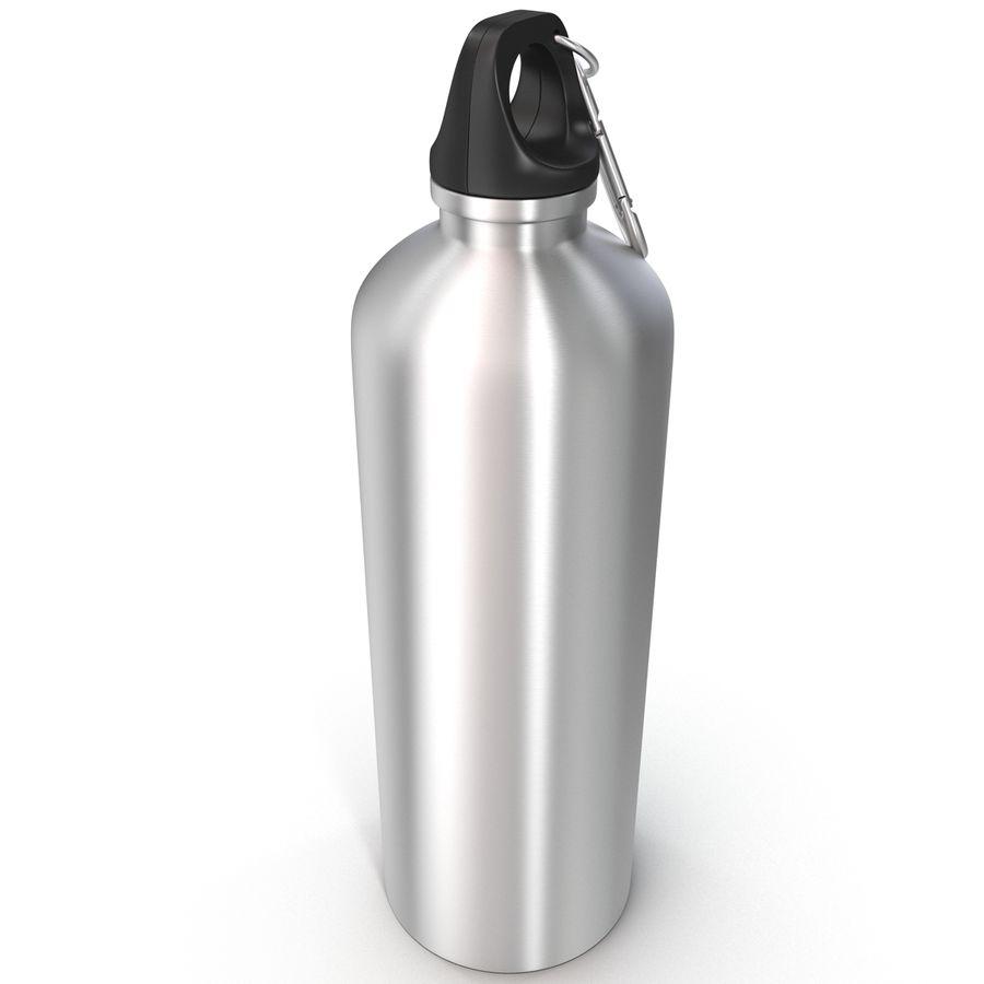 Reusable Aluminium Water Bottle royalty-free 3d model - Preview no. 9