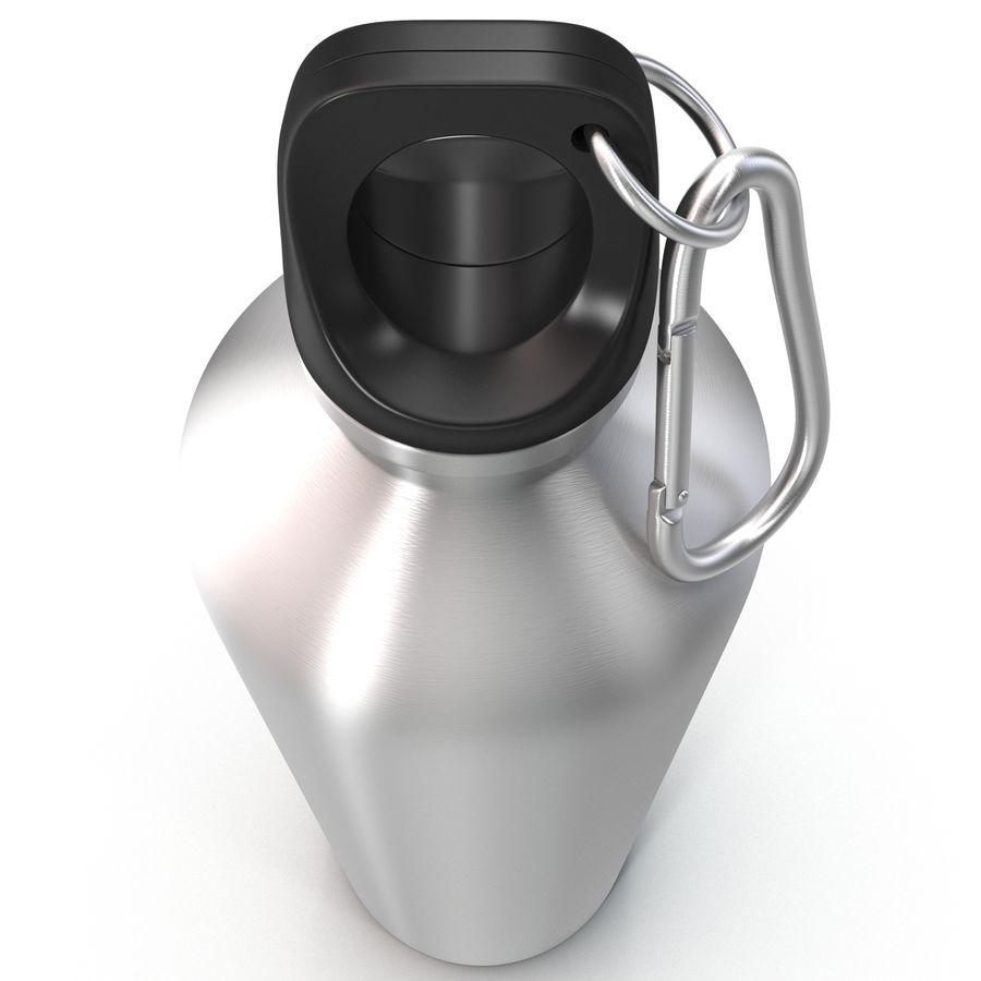 Reusable Aluminium Water Bottle royalty-free 3d model - Preview no. 7