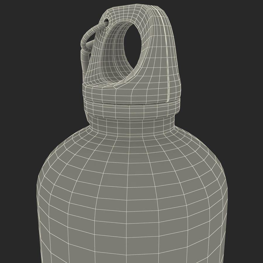 Reusable Aluminium Water Bottle royalty-free 3d model - Preview no. 21