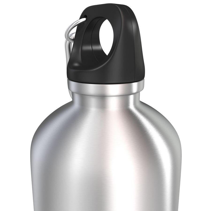 Reusable Aluminium Water Bottle royalty-free 3d model - Preview no. 13