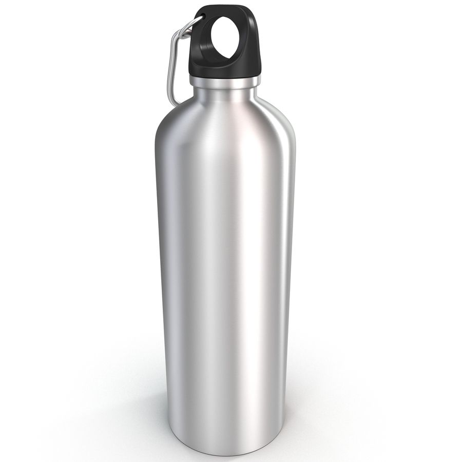 Reusable Aluminium Water Bottle royalty-free 3d model - Preview no. 10