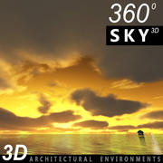 하늘 3D 일몰 026 3d model