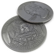 Quarter Dollar 3d model