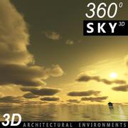 Ciel 3d coucher de soleil 028 3d model