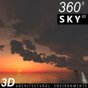 하늘 3D 일몰 030 3d model