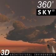 하늘 3D 일몰 031 3d model
