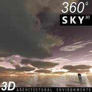 Ciel 3d coucher de soleil 032 3d model