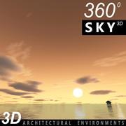 Ciel 3d coucher de soleil 047 3d model