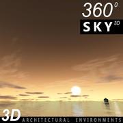 하늘 3D 일몰 050 3d model