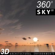 하늘 3D 일몰 060 3d model