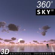 하늘 3D 일몰 068 3d model