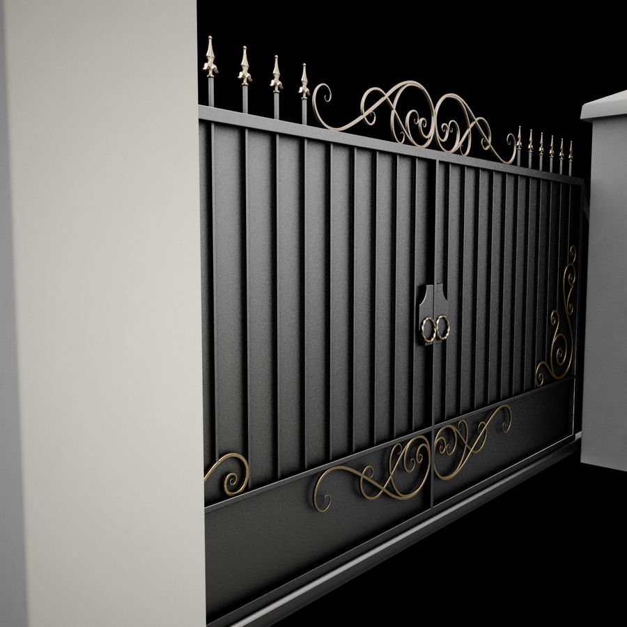 Wrought Iron Gate 34 royalty-free 3d model - Preview no. 18