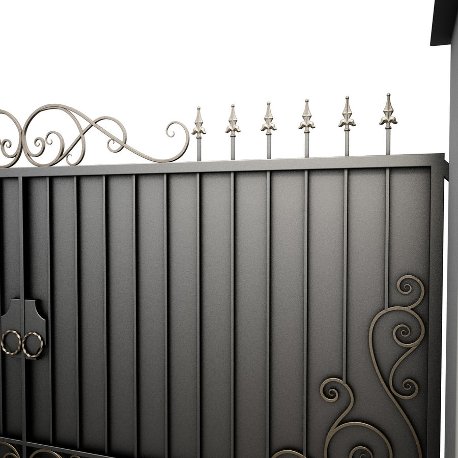 Wrought Iron Gate 34 royalty-free 3d model - Preview no. 8