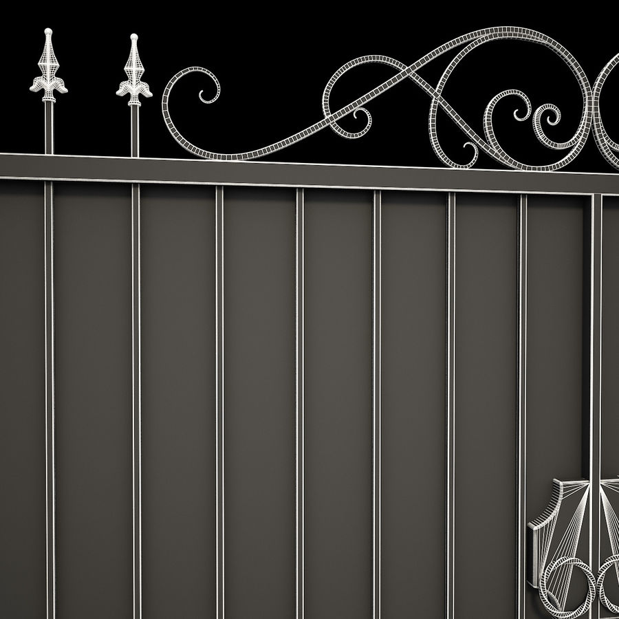 Wrought Iron Gate 34 royalty-free 3d model - Preview no. 19
