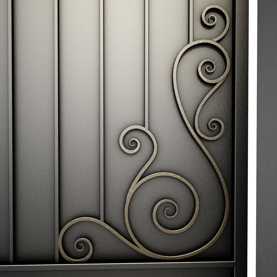 Wrought Iron Gate 34 royalty-free 3d model - Preview no. 9