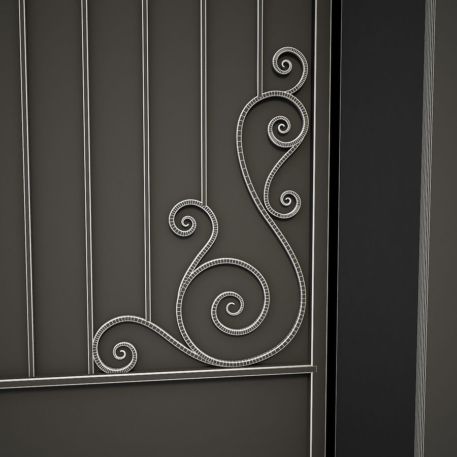 Wrought Iron Gate 34 royalty-free 3d model - Preview no. 17