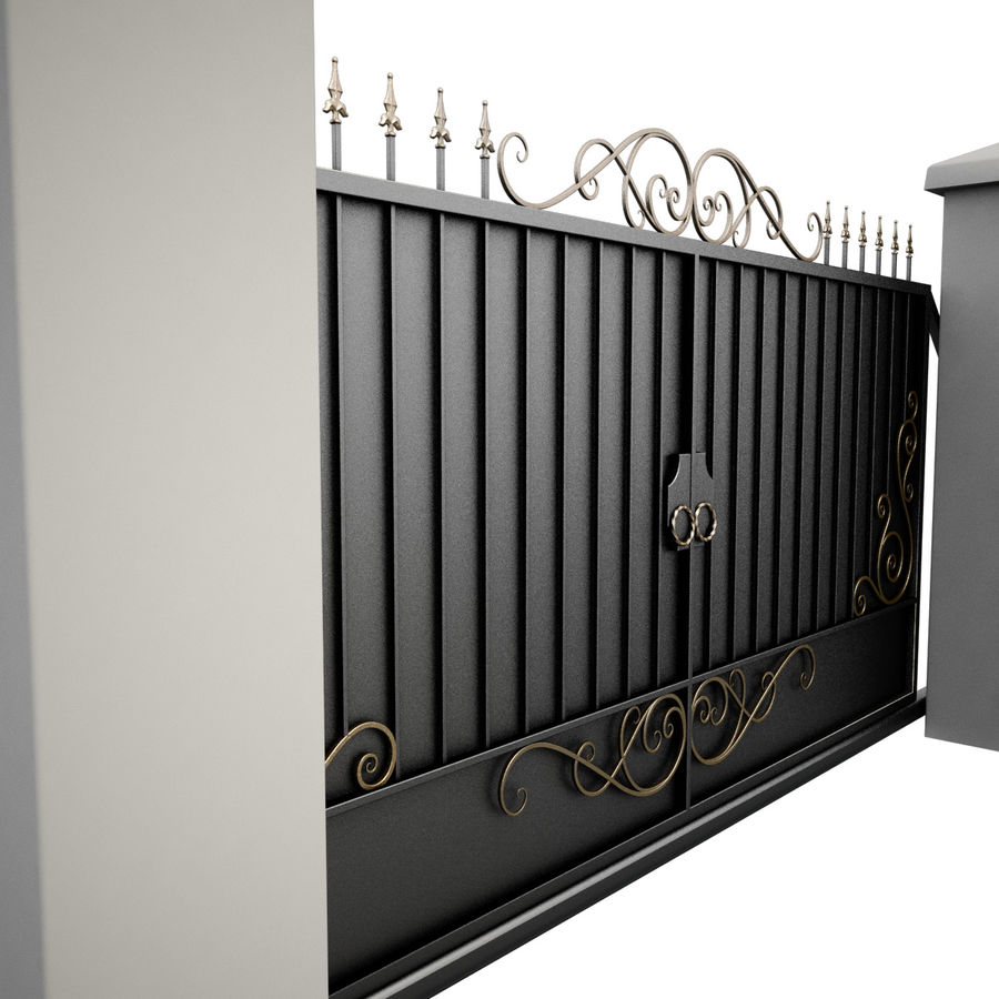 Wrought Iron Gate 34 royalty-free 3d model - Preview no. 6