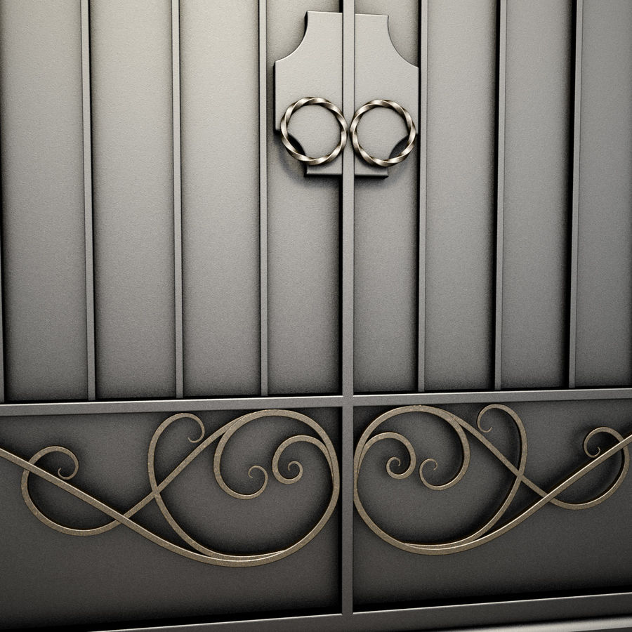 Wrought Iron Gate 34 royalty-free 3d model - Preview no. 10