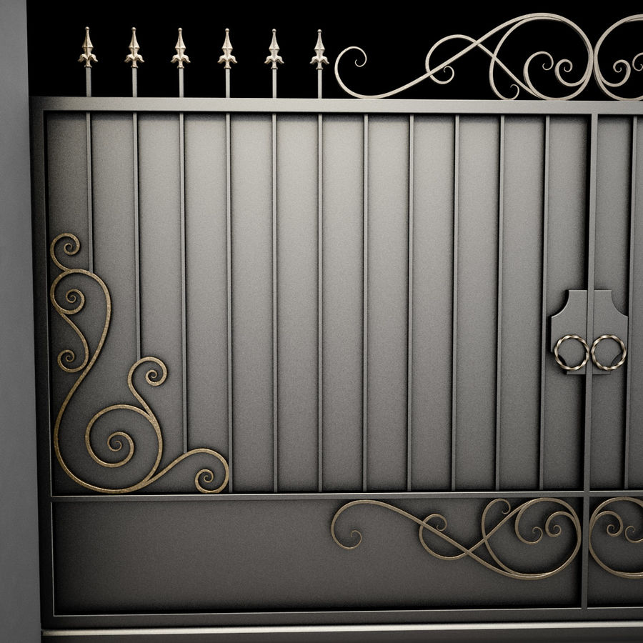 Wrought Iron Gate 34 royalty-free 3d model - Preview no. 14