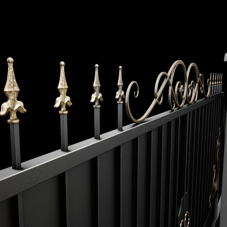 Wrought Iron Gate 34 royalty-free 3d model - Preview no. 13