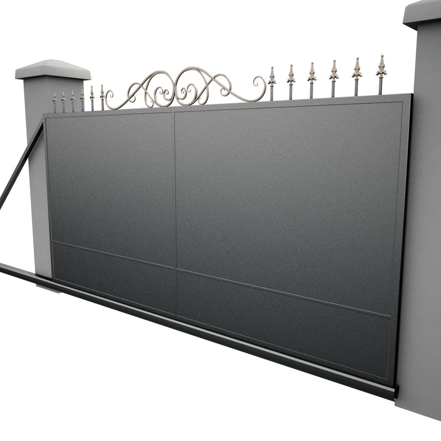 Wrought Iron Gate 34 royalty-free 3d model - Preview no. 12