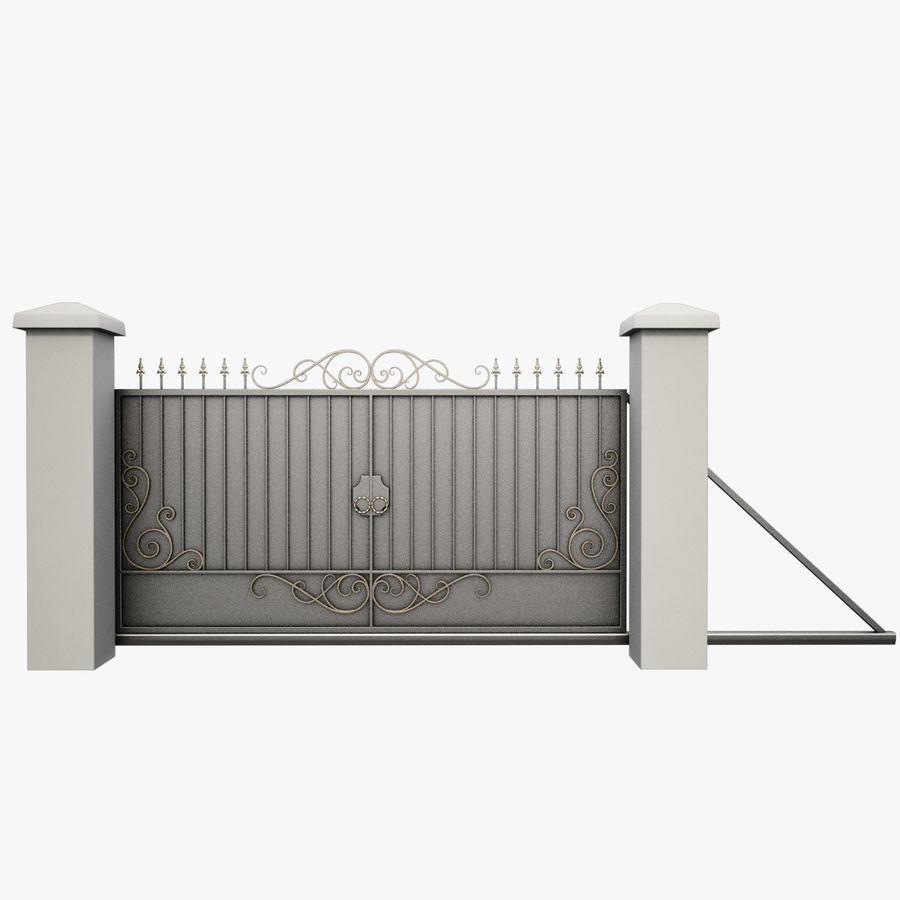 Wrought Iron Gate 34 royalty-free 3d model - Preview no. 2