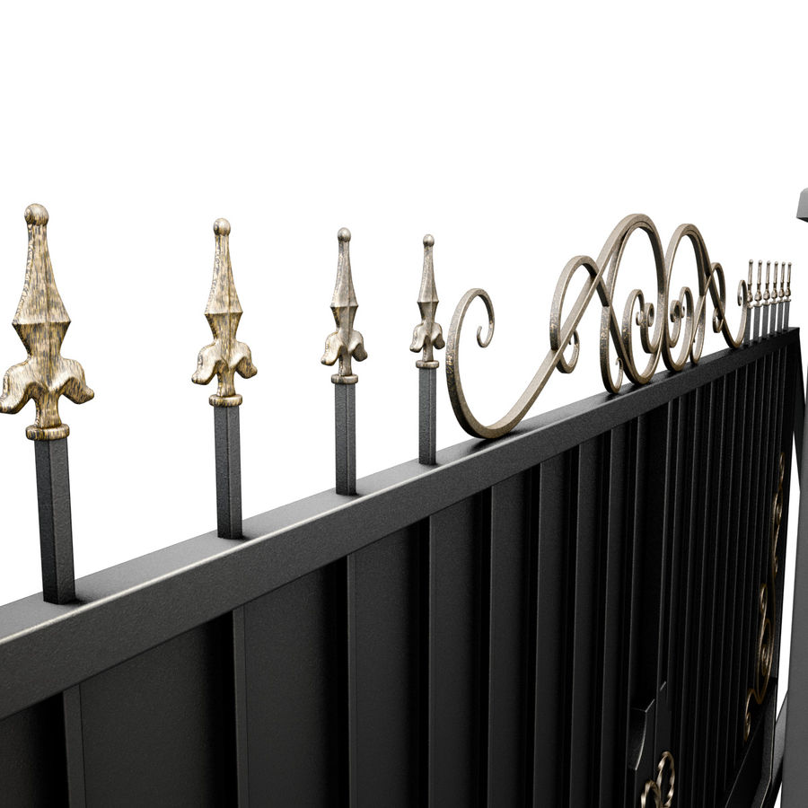 Wrought Iron Gate 34 royalty-free 3d model - Preview no. 11