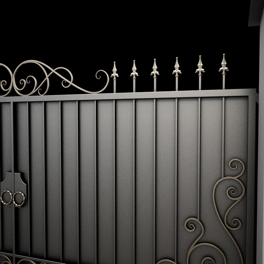 Wrought Iron Gate 34 royalty-free 3d model - Preview no. 16