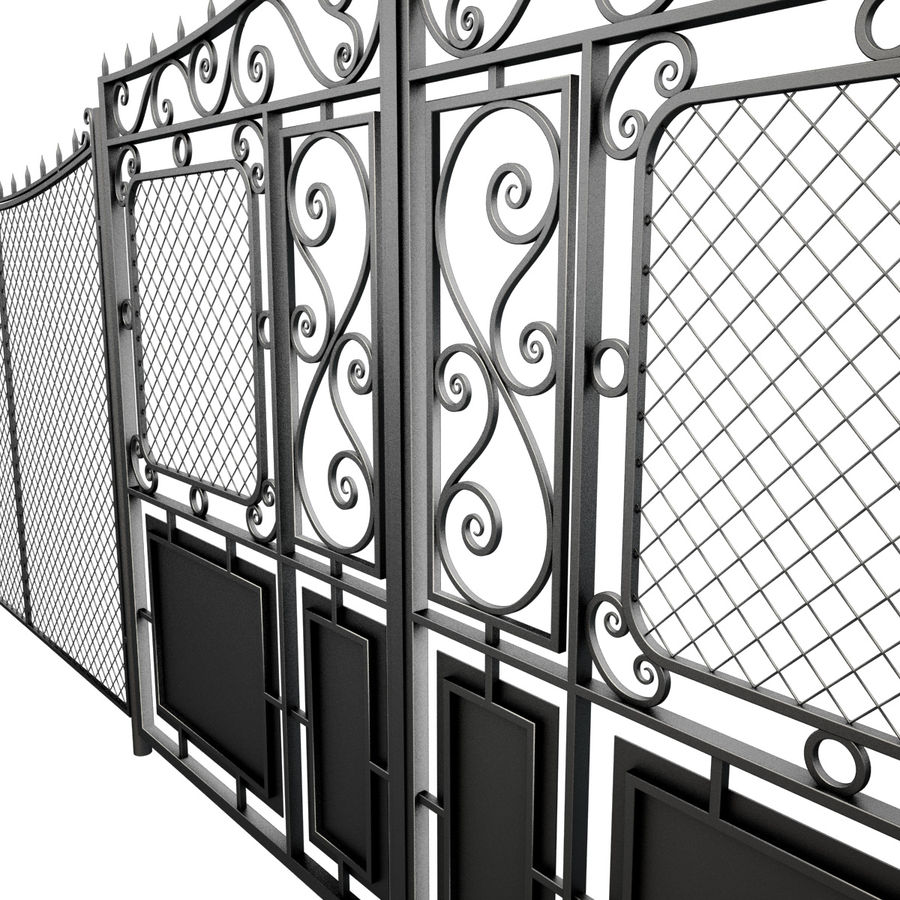 Gate and Fence royalty-free 3d model - Preview no. 8