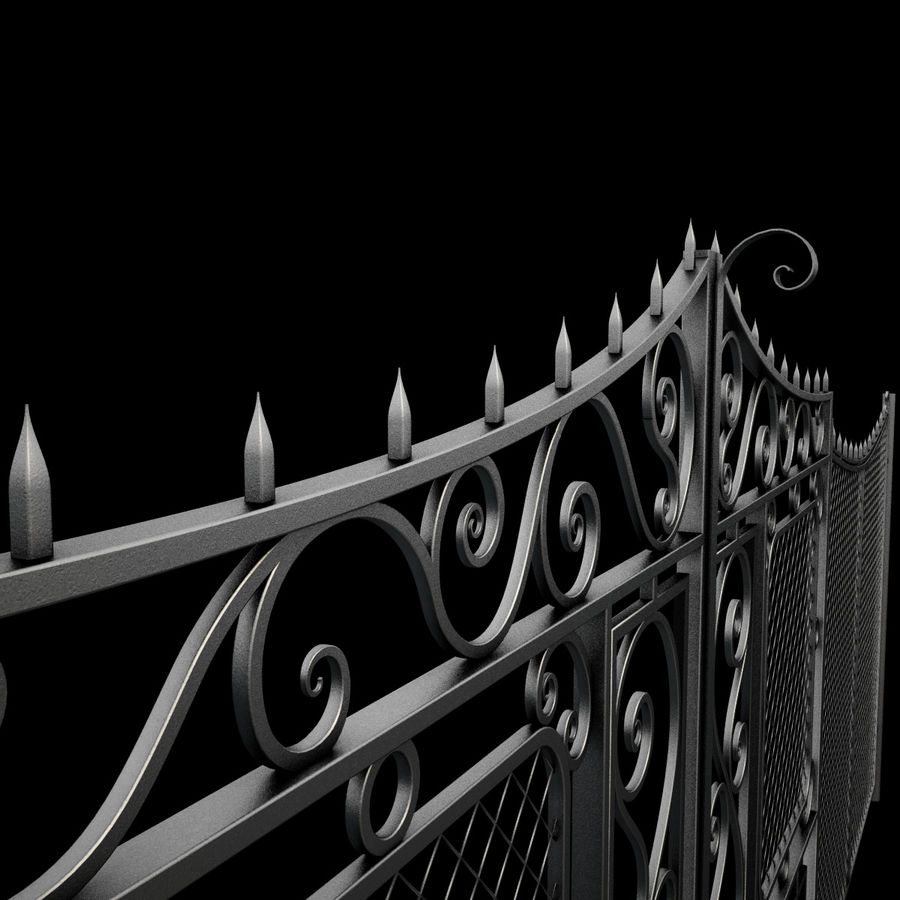 Gate and Fence royalty-free 3d model - Preview no. 13