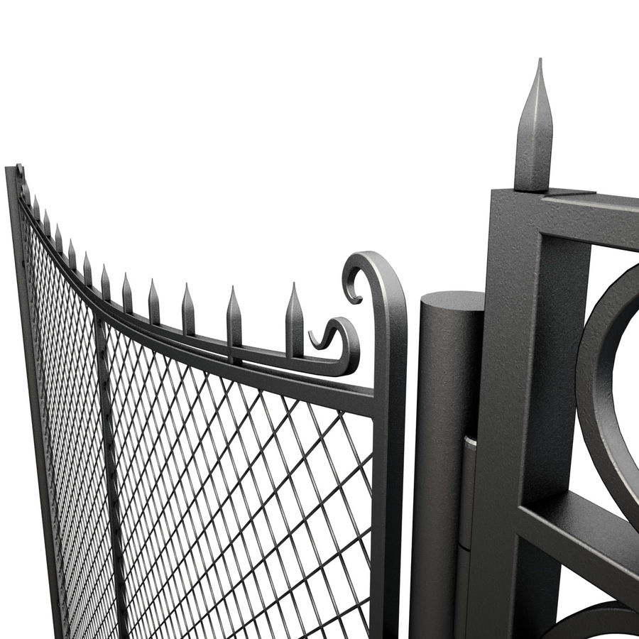 Gate and Fence royalty-free 3d model - Preview no. 6