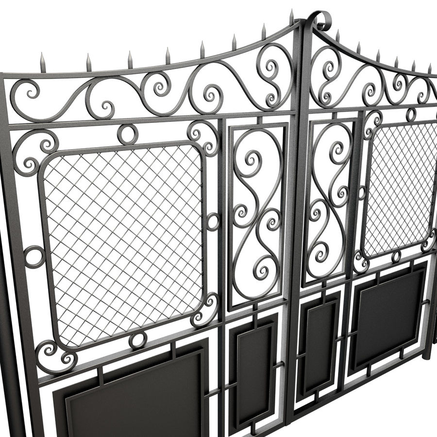 Gate and Fence royalty-free 3d model - Preview no. 9