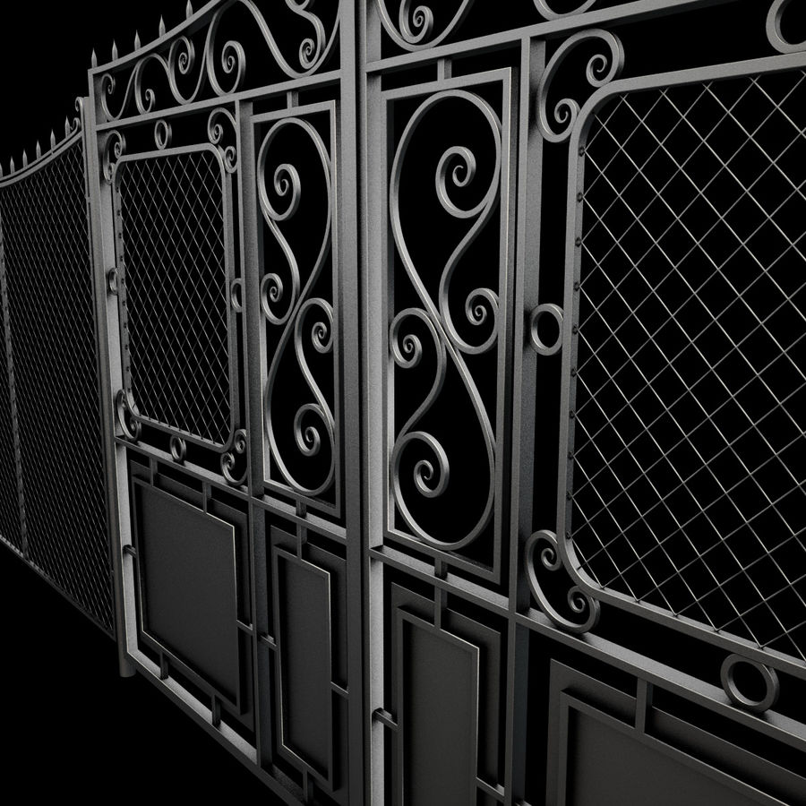Gate and Fence royalty-free 3d model - Preview no. 14