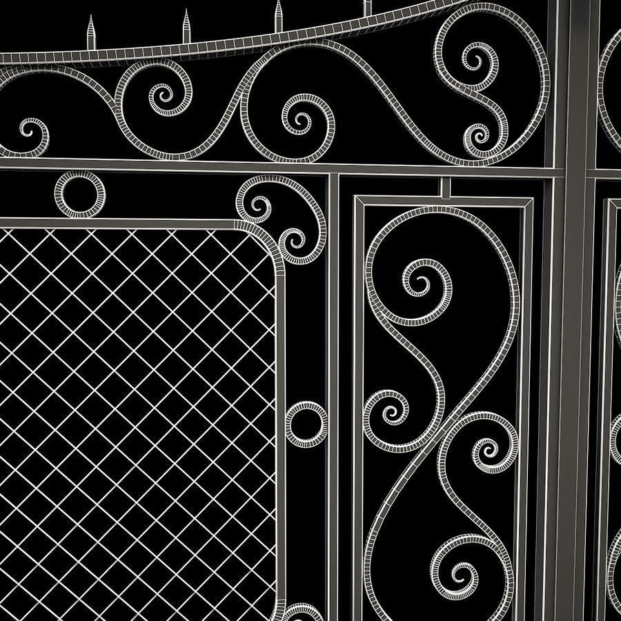 Gate and Fence royalty-free 3d model - Preview no. 20