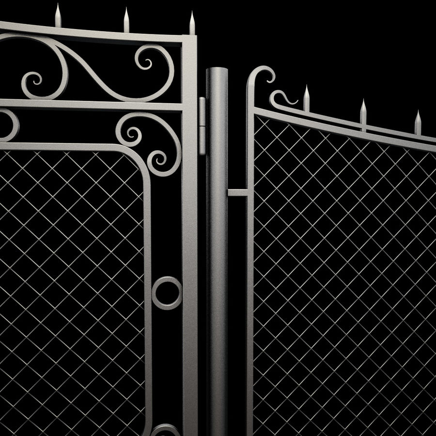 Gate and Fence royalty-free 3d model - Preview no. 16