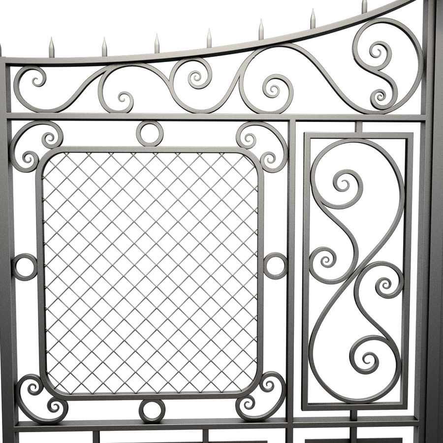 Gate and Fence royalty-free 3d model - Preview no. 7