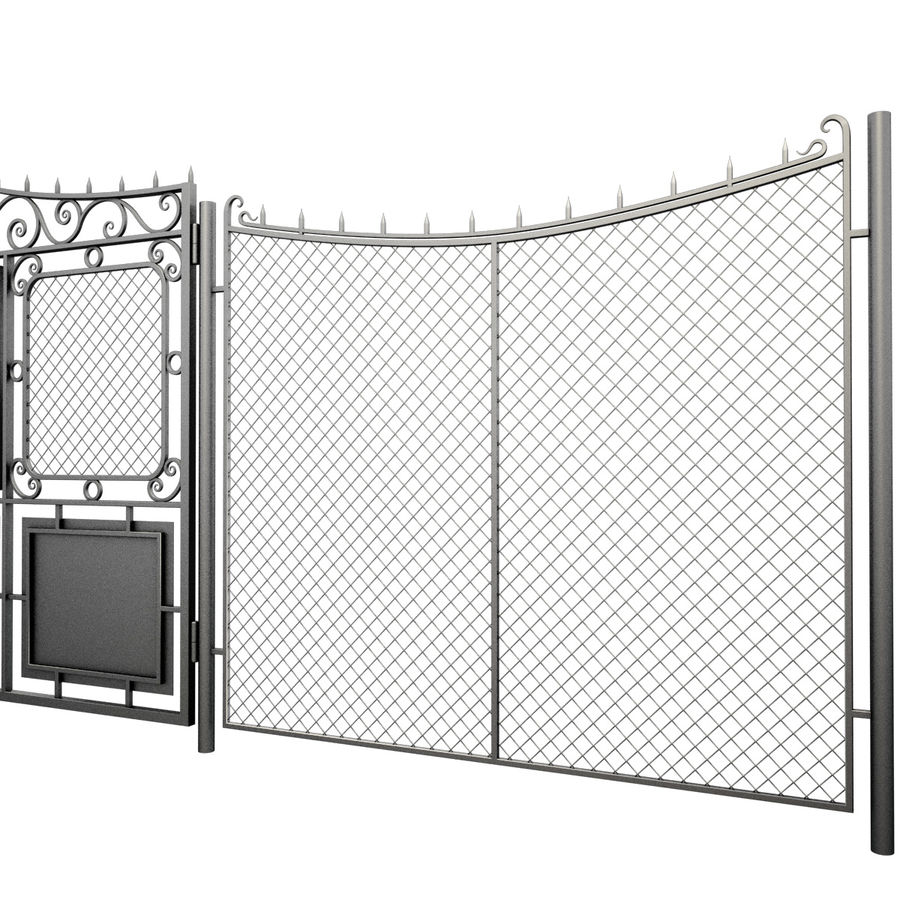 Gate and Fence royalty-free 3d model - Preview no. 4