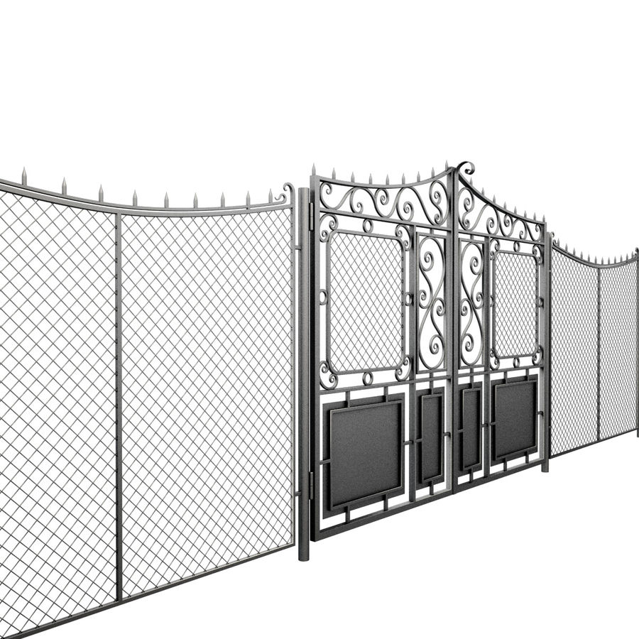 Gate and Fence royalty-free 3d model - Preview no. 5