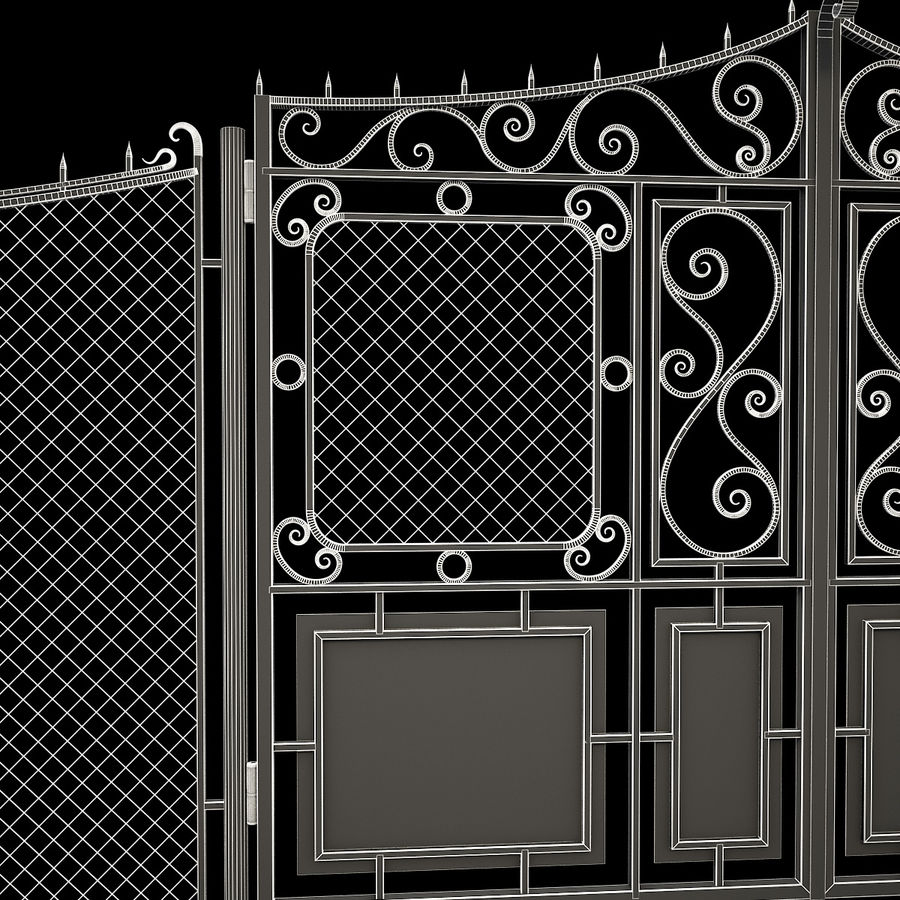 Gate and Fence royalty-free 3d model - Preview no. 19