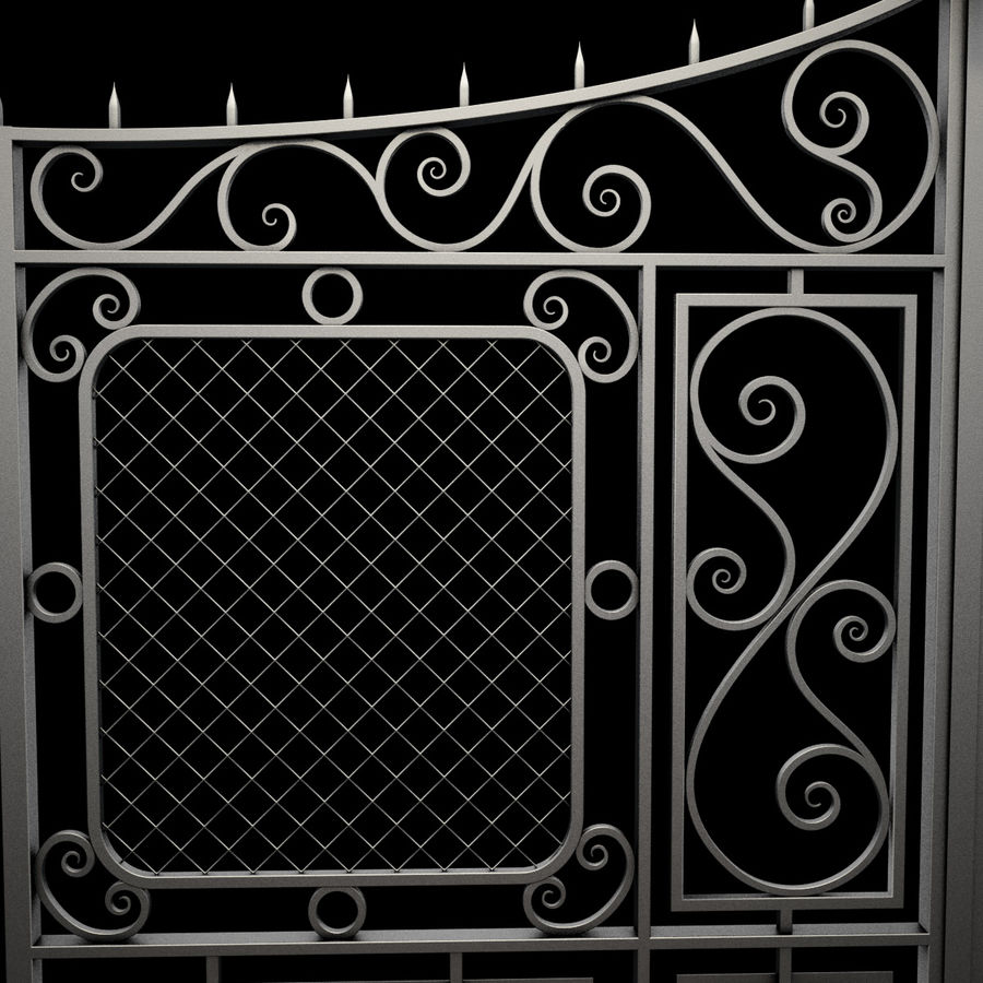 Gate and Fence royalty-free 3d model - Preview no. 17