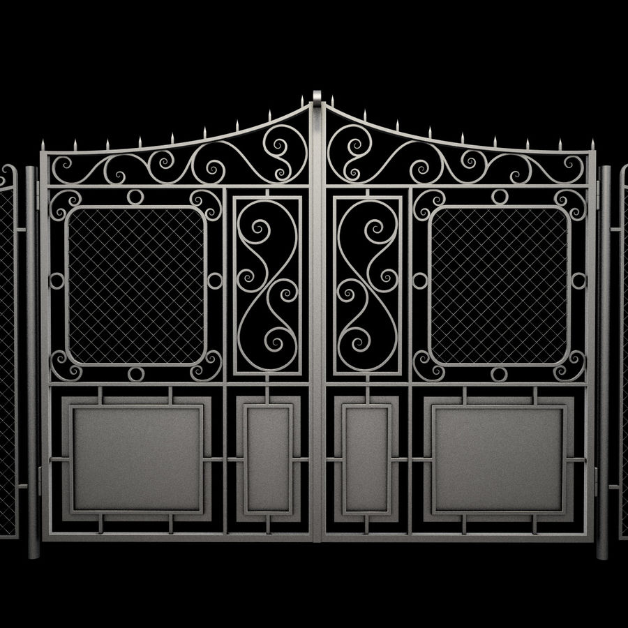 Gate and Fence royalty-free 3d model - Preview no. 15