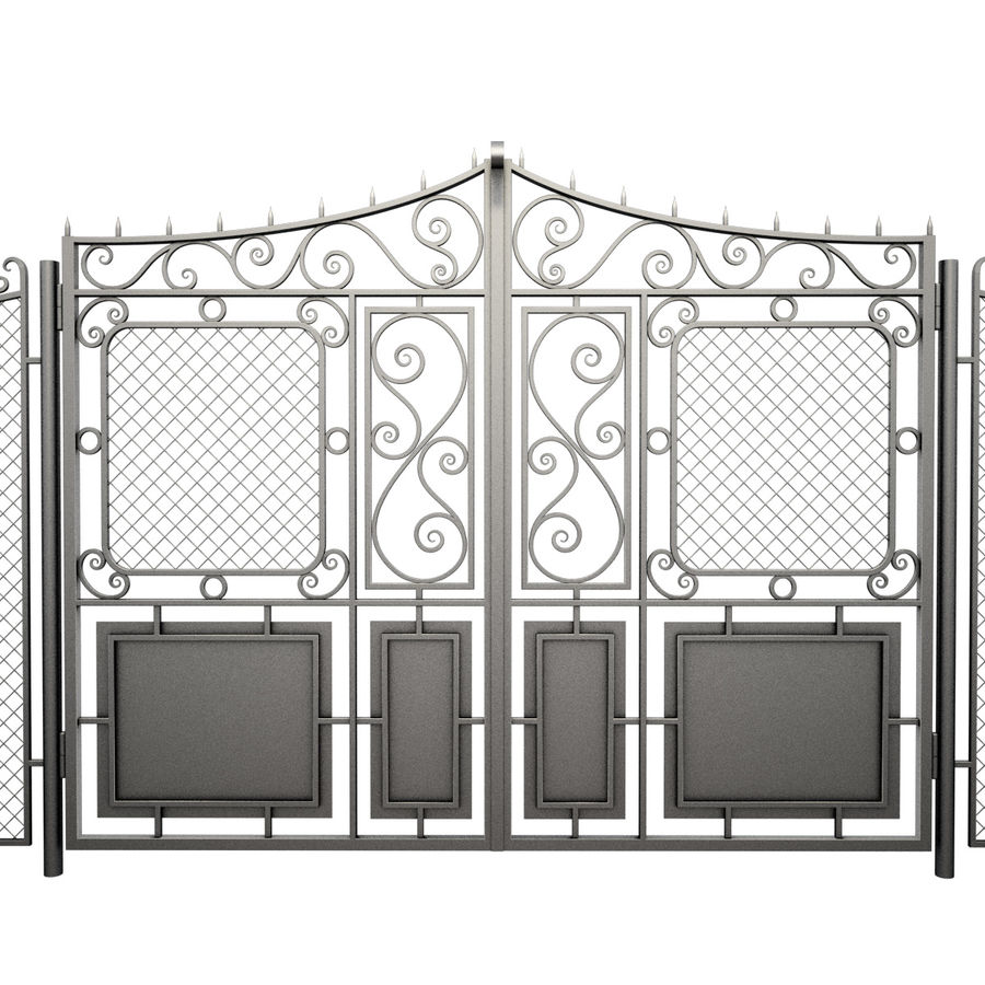 Gate and Fence royalty-free 3d model - Preview no. 3