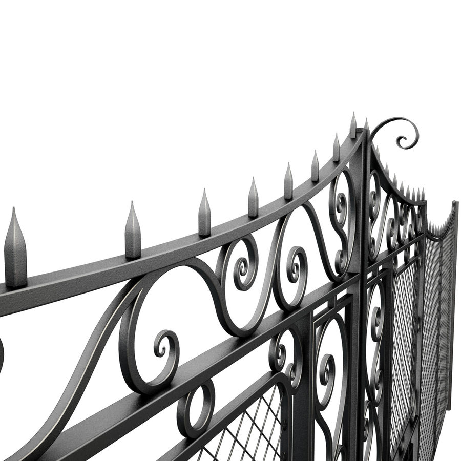 Gate and Fence royalty-free 3d model - Preview no. 11