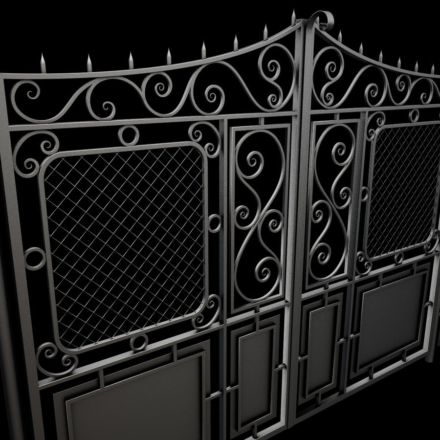 Gate and Fence royalty-free 3d model - Preview no. 18