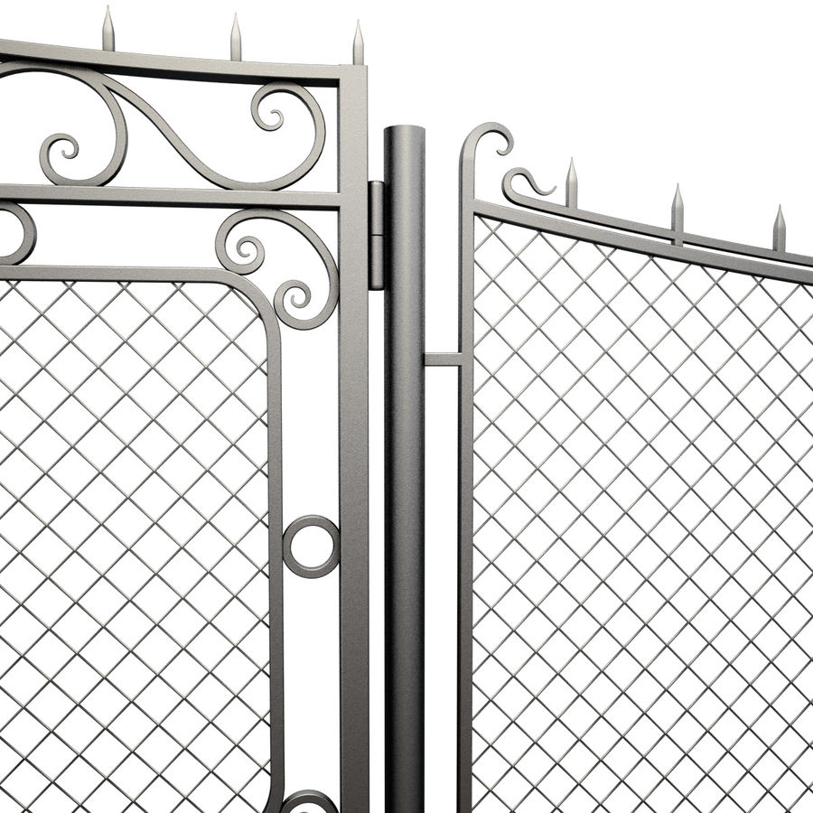 Gate and Fence royalty-free 3d model - Preview no. 12