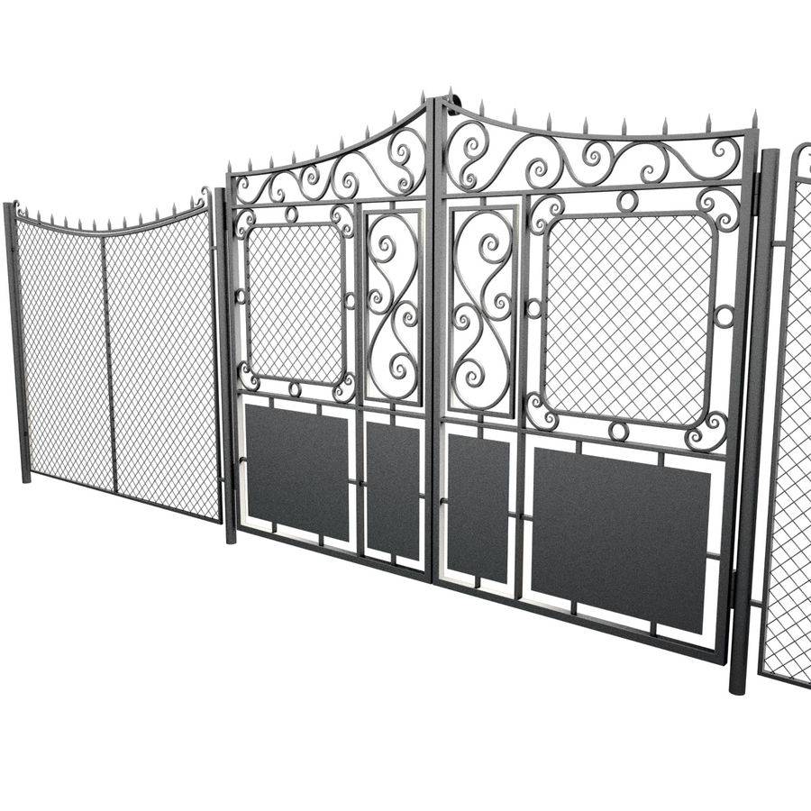 Gate and Fence royalty-free 3d model - Preview no. 10