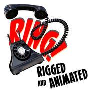 plataforma telefónica de dibujos animados modelo 3d